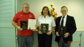 President Pat McQuillan, Captain Sheryl Luongo, Steve Axinn Lake Oscawana Civic Association